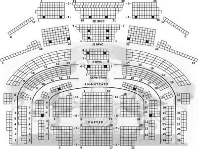 Схема зала: Национальная Опера